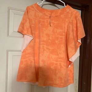 Orange Tie Dye Shirt